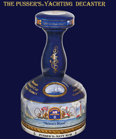 British Navy Pusser's Rum Yachting Decanter