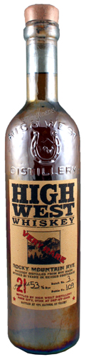 High West Whiskey Rocky Mountain Rye 21Y